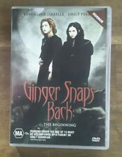 Ginger Snaps 3 DVD Ginger Snaps Back - The Beginning - RARE REGION 4 AUSTRALIA