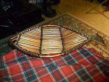 Vintage Woven Cane FISH Basket Centerpiece Bowl hand made