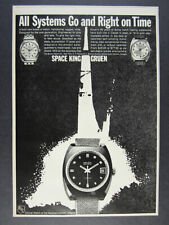 1969 Gruen Precision SPACE KING Watch vintage print Ad