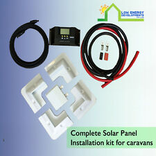Complete Solar Panel installation kit for caravan / RV  motorhom etc