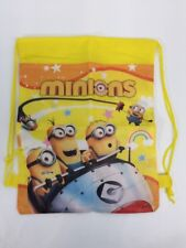 Minions Back Pack Drawstring Bag 14� L X 11� Wide Yellow