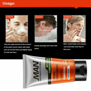 ArrivalFashion Men Face Wash For Oily Skin Blackheads Foam Cleanser M0A0