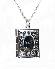 SILVER BIBLE LOCKET ON SILVER CHAIN (CH)