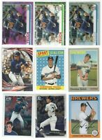 29 Different Christian Yelich card lot/set Chrome Pink refractor Inserts Brewers