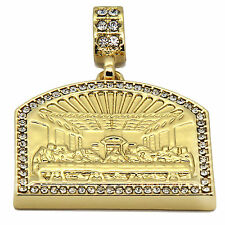 "Mens 14K Gold Plated Last Supper Pendant Hip-Hop 3 mm/30"" Cuban Chain pendant"