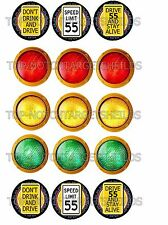 High Speed 1 Pinball Target Cushioned Decals