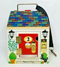 Melissa & Doug Wooden Doorbell Toy Doll House with Lock and Keys #2505