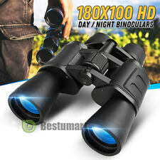 180x100 High Power Military Binoculars Day/Night BAK4 Optics Hunting Camping+Bag