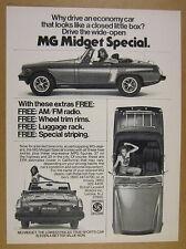 1976 MG Midget Special 3x car photo vintage print Ad