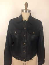 Hot Leathers Womens Black Jean Style Motorcycle Jacket Size XL