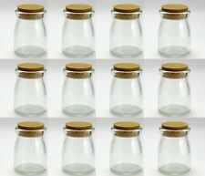 Charmed 4 OZ Glass Pudding Jar with Cork; 12 Pieces
