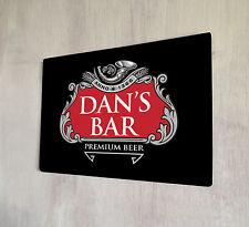Personalizzato Etichetta birra insegna A4 placca di metallo shabby chic bar &