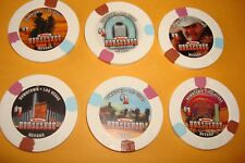 6 - $1 17TH EDT CASINO GAMING CHIPS FROM BINION'S HORSESHOE CASINO LAS VEGAS NV
