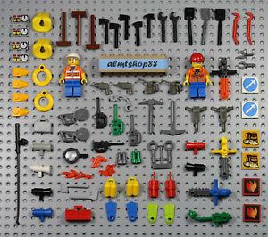 LEGO - 80 pcs Minifigure Tools Lot - Construction Saw Axe Keys Shovel Town City
