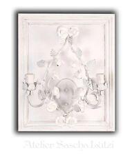 Superbe Shabby Applique murale Clayre & Eef Vintage feuilles Roses Grimpant 67cm