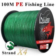 Línea de pesca PE pulline 100M fuerte 4 hebras trenzadas línea de pesca 6-100LB