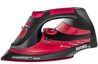 Steam Iron For Clothes 1500 Watt Iron Powerful Retractable Cord Red