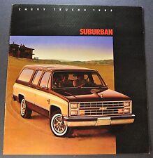 1985 Chevrolet Suburban Truck Brochure C10 C20 K10 K20 4x4 Excellent Original 85
