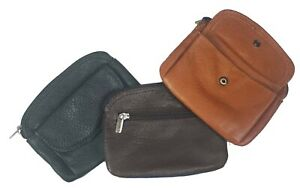 Genuine Leather Woman Men Coin Purse Cowhide Change Purse Coin Pouch, Key Ring