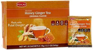 Pocas Honey Ginger Tea original Instant Honey Ginger Tea Made with Real Ginger