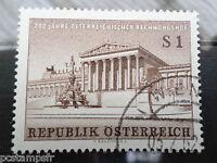 AUTRICHE 1962, timbre 941, BICENTENAIRE COUR DES COMPTES oblitéré, VF used stamp
