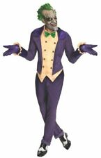 Joker Costume Adult Batman Arkham Halloween Fancy Dress STD