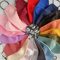 Colourful Face Mask Washable Reusable Soft Fabric Handmade  with Filter Pocket