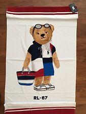 "NWT-POLO RALPH LAUREN Beach Towel LIMITED EDITION ""BEACH POLO BEAR RL-67"" 35x66"