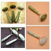 Rouleau facial portatif de massage de pierre de jade de beauté de corps de cou.