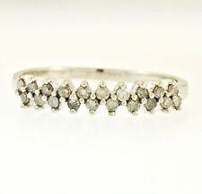 ORO bianco 9 Carati Diamante (0.20ct) l'eternità anello (dimensione N) larghezza 3mm