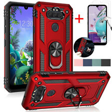 For LG Risio 4 /Phoenix 5 /Aristo 5 Shockproof Ring Stand Case+Sreen Protector