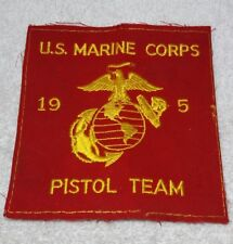 Large 6 x 6 inch USMC Marine Corps 1950's Pistol Team Patch