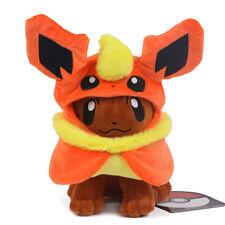 Pokemon Center Eevee Poncho Flareon Stuffed Animal Plush Doll 7inches