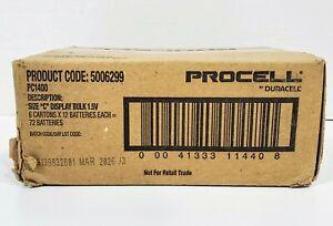 "Duracell Procell Size ""C"" Batteries Display Bulk 1.5V, 6 packs x 12 (72 total)"