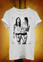 Sexy Tattoo Girls Laugh Funny Cool Men Women Unisex T Shirt Tank Top Vest 1216