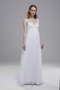 Hochzeitskleid Brautkleid Umstandsbrautkleid weiß,creme