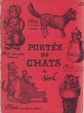 Siné, Portée de chats, Jean-Jacques Pauvert, illustrato, 1959, gatti
