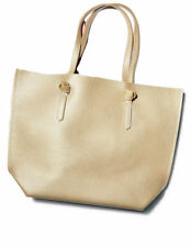 MACY'S gold faux pebble leather tote bag shoulder purse weekender shopper NEW