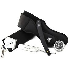 Professional Wet Shaving Set Straight Razor & Double Sided Leather Strop + Paste