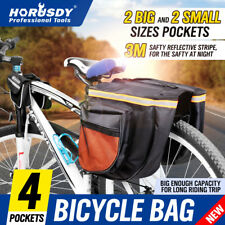 Cycling Bicycle Waterproof Travel Pannier Rear Seat Trunk Bag Double Sides