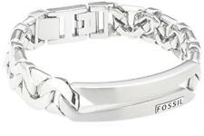 Fossil Herrenarmband Jf84283040 Herren Armband Edelstahl Silber Panzerarmband Ge