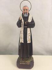 STATUA PADRE PIO BENEDICENTE 20 cm in resina e polvere di marmo San Pio bianco