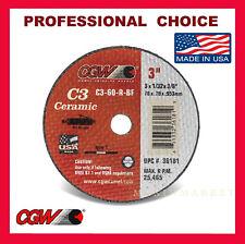 """CGW 3"""" x 1/32"""" X 3/8"""" Ceramic Cut-Off Wheels for Die Grinder."""