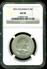 Nice 1893 Columbian Half NGC AU58 Un-toned with silvery cartwheel lusture