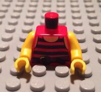 NEW / Lego Pirate Mini- Figure Torso / Red Shirt / Arms & Hand / 6099782 / 2829