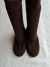 UGG Tall Sweater Boots 7 Women's Classic Cardy Casual Brown Knit 3 Button 5819