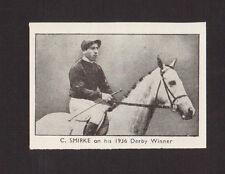Charlie Smirke Horse Racing Jockey 1930 The Champion Sports Wallet Card