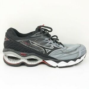 Mizuno Mens Wave Creation 20 411060 9T90 Gray Black Running Shoes Lace Up Sz 8.5