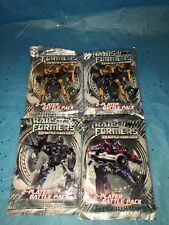4 Packs Transformers 3D Battle Card Game 2 Player Booster Pack NEW Movie