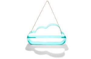 Kids Hanging Cloud Wall Shelf - Nursery   Bedroom   Playroom Display - Aqua